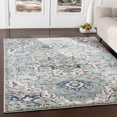 Bungalow Rose Mesopotamia Traditional Floral Grey, Teal x Area Rug Rug Size: Rectangle x Rug Direct, Bungalow Rose, Heriz Rugs, Rugs, Trending Decor, House Of Hampton, Colorful Rugs, Area Rugs, Charlton Home