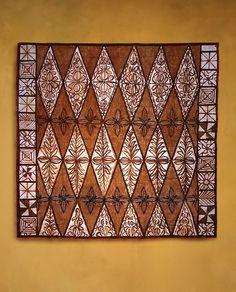 Tongan tapa cloth with Kalou design by tapapacifica on Flickr