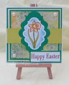 Tinyrose's Craft Room: Happy Easter - Daffodil made with a Heartfelt Creations stamp