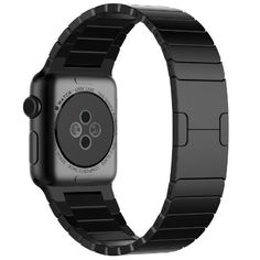 Apple Watch Band, JETech Stainless Steel Link Bracelet with Butterfly Closure Replacement Band for Apple Watch All 42mm Models (Black)