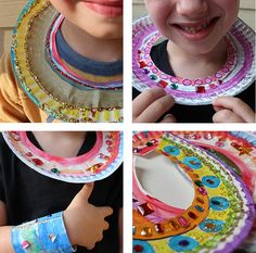 Make Ancient Egyptian Collars with Paper Plates