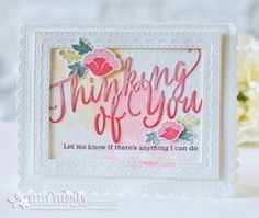Thinking Of You Card by Betsy Veldman for Papertrey Ink (June 2016)