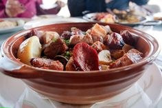 Porco Alentejana - clams with pork & sausage and fried potatoes. My personal favourite dish at Sagres.