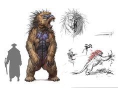 The beast , Timur Mutsaev on ArtStation at https://www.artstation.com/artwork/3vVEE