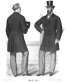 """Style of men in Victorian Era - """"Gazette of Fashion and Cutting-Room Companion"""", 1872"""