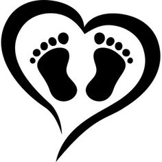 Silhouette Design Store: baby feet love