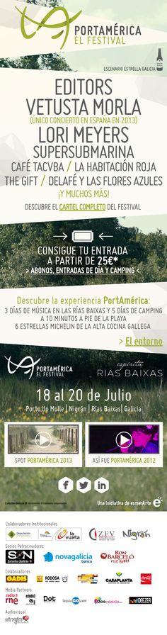 Editors y vetusta encabezan portAmérica | Playa, Rías Baixas, camping… ¡vacaciones!