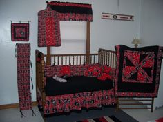 Georgia Bulldog Nursery  crib bedding, 12 piece set. $240.00, via Etsy.