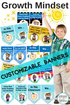 These Customizable Growth Mindset Banners are a great addition to your classroom decor as a reminder for students to work hard and do their BEST! There are 8 different designs from which to choose and if you don't see any designs you like, then they can b 2nd Grade Classroom, School Classroom, Classroom Decor, Elementary School Counseling, Elementary Schools, Elementary Teacher, Homework Club, Teacher Workshops, Common Core Curriculum