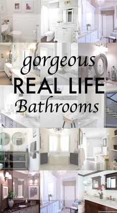 Gorgeous Real Life Bathrooms | Honey We're Home