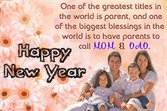 Happy New Year 2017 Wishes Mom And Dad  · Parents Day QuotesFamily ...