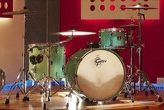Gretsch drum kit at Summerfield Studios, a new UK recording studio in Birmingham.