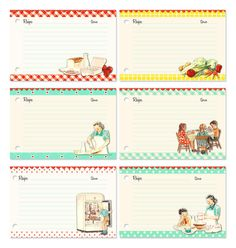What's Cookin' retro style recipe cards
