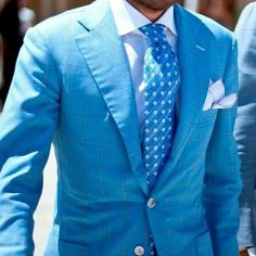 My Dapper Self — Bright blue, a perfect style for those of us with...
