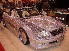 Triple Bling! Shiny pink car