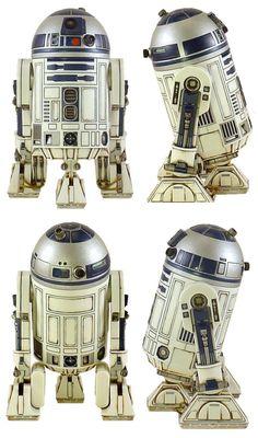 Droides Star Wars, Star Wars Droids, Star Wars Party, Starwars, Star Wars Spaceships, Star Wars Design, Star Wars Vehicles, Star Wars Models, 3d Figures