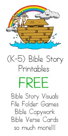 Great Bible printables!  I'll use these in homeschool and children's church!  This site even has printables to go with Seed Family Worship CDs.