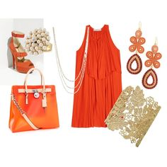 Let me see, yes, yes, yes, YES to all of this fabulousness!!!Pantone Color of the Year, Tangerine Tango, paired with Stella & Dot jewels. http://stelladot.com/courtneyparham