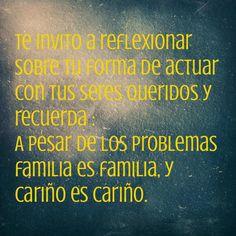 Recordemos que la Familia es la base de la sociedad y si dejamos que las familias se sigan deteriorando en poco tiempo no quedara nada. #Psicfamilia #Familia #Psicología #Psicologa #Maracaibo #Venezuela #Reflexión #Cariño