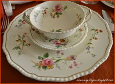 Rosemary and Thyme: An Autumn Afternoon Gathering- lovely Royal Doulton