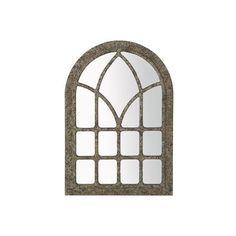 Pier One Vaulted Mirror (450 DKK) ❤ liked on Polyvore featuring home, home decor, mirrors, window, backgrounds, frames, mirror, english home decor, arch mirror and arched window mirror