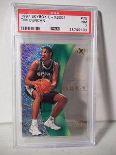 1997 Skybox Tim Duncan RC PSA NM 7 Basketball Card #75 E-X2001 NBA Collectible…