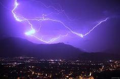 Lightning Strikes by Lago di Garda by Richard Atterer, via 500px