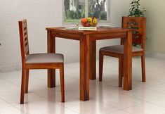 2 Seater Dining Table Set: Buy Two Seater Dining Table Set Online 2 Seater Dining Table, Dining Set, Dining Chairs, Set Honey, Wooden Street, Dining Room Furniture, Online Furniture, Table Settings