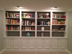 minimalist concept built in bookcases #13544