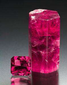 """Bright red mineral/gem called """"red Beryl"""" or Bixbite and only found in 2 locations on earth, one in the Wah Wah Mountains in Utah —"""