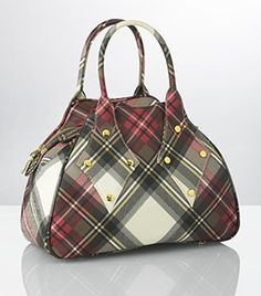 This Vivienne Westwood tartan bag is simply delicious!