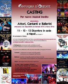 CASTING MUSICAL ATTORI, CANTANTI, BALLERINI
