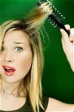 hair caught in brush