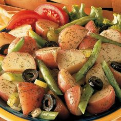 Seasoned just right, this potato and bean salad will be a hit at your next summertime barbeque.