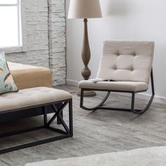Belham Living Grayson Tufted Rocking Chair - Indoor Rocking Chairs at Hayneedle
