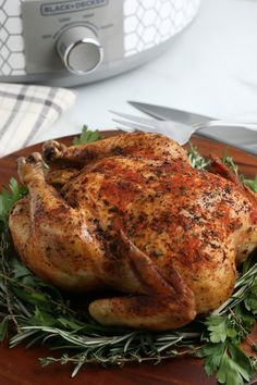 This Crockpot Whole Chicken is a super easy comforting meal, perfect for a lazy Sunday, a busy weeknight or as part of a holiday spread. Lazy Sunday, Super Easy, Midweek Meals, Easy Meals, Crockpot Liners, Slow Cooker Recipes, Crockpot Recipes, Chicken With Olives, Winner Winner Chicken Dinner