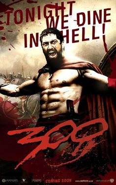 Directed by Zack Snyder. With Gerard Butler, Lena Headey, David Wenham, Dominic West. King Leonidas of Sparta and a force of 300 men fight the Persians at Thermopylae in 480 B. 300 Film, 300 Movie, Love Movie, Movie Tv, Badass Movie, Movie List, Gerard Butler, Lena Headey, Rodrigo Santoro