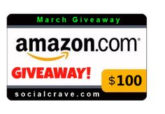 Enter the giveaway at SocialCrave.com to #win a $100 Amazon gift card. #giveaway #contest #socialcrave #win