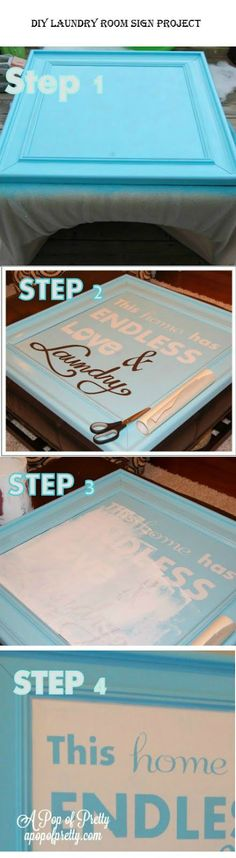 DIY Laundry Room Sign Project | http://iluvdiyideaz.com/diy-laundry-room-sign-project/