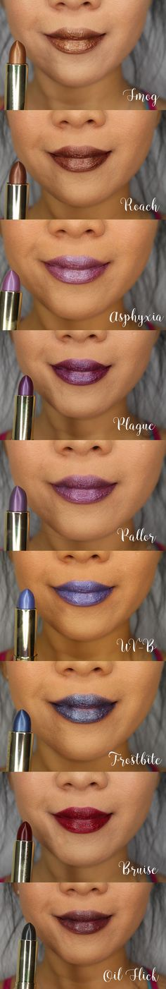 Urban Decay Vice Lipstick Vintage Capsule Collection Swatches   geniabeme