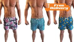 Buy: Men's Swim Shorts - Free Delivery! for just: £9.99 Look great by the pool with the Men's Swim Shorts      Available in sizes S, M, L and XL       Please see full details for size guide      Available in a range of 9 super-stylish designs (sent at random)      Made from 100% polyester      Feel comfortable and confident on holiday      Get ready for some sun and sea with these...