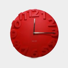 Fashion Clock Red