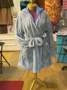 Sew Easy Pattern & quick Video  ...Custom made Hooded Bath  Robe can be made any lenght