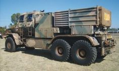 The Bateleur is a wheeled Multiple-Launch Rocket System (MLRS) designed in 1989 and emploed by the South African Military. Military Vehicles, Military Car, South African Air Force, Defence Force, Heavy Truck, Military Equipment, War Machine, Cold War, Military History