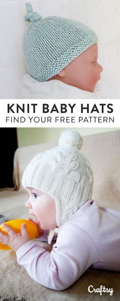 Knit the perfect handmade gift for a little one on the way with one of our favorite baby hat knitting patterns. Did we mention they're FREE?