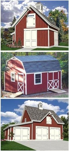 Barn plans country garage plans and workshop plans for Country barn plans