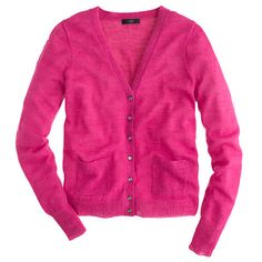Bling-button cardigan (vibrant berry) - size s