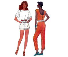 80s Jumpsuit Sewing pattern Butterick 3183 by allthepreciousthings, $16.00