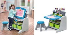 Step2 Flip & Doodle Easel Desk & Stool Just $35.99! Reg $90!!!