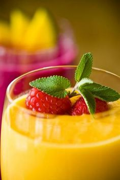Banana Raspberry Smoothie  1-1/2 cups natural pineapple juice  1 cup plain yogurt  1 cup frozen raspberries  2 ripe, peeled bananas